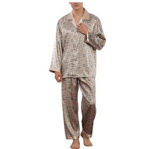 NEW Mens Silky Satin Sleepware